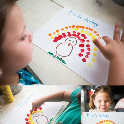 T is for Turkey Preschool Craft