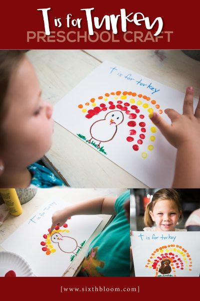 T is for Turkey Preschool Craft