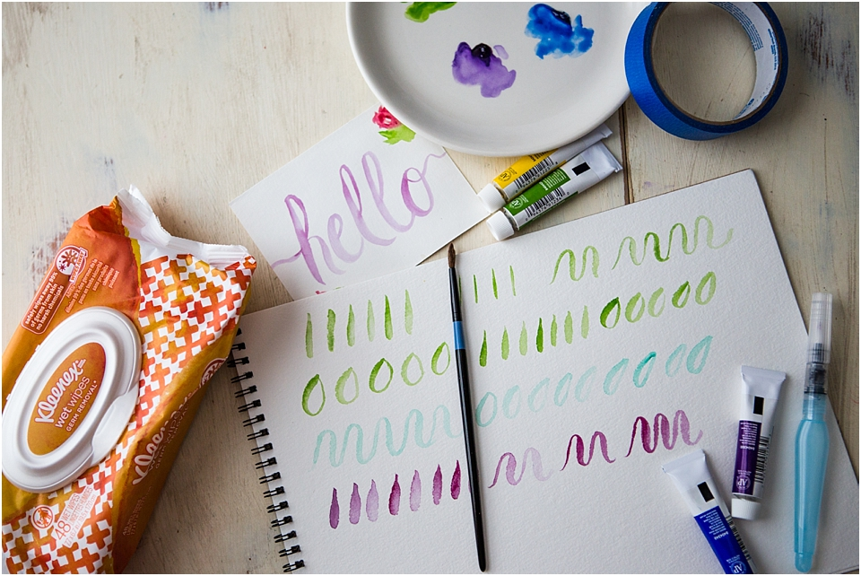 watercolor lettering tips