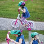 teaching a toddler to ride a bike