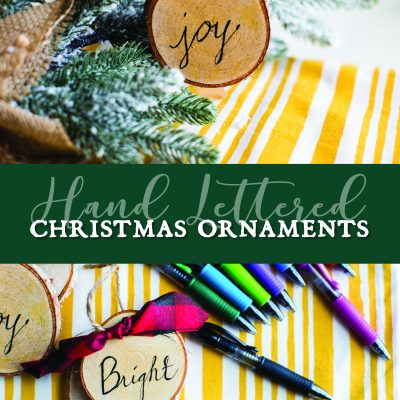 Hand Lettered Christmas Ornaments