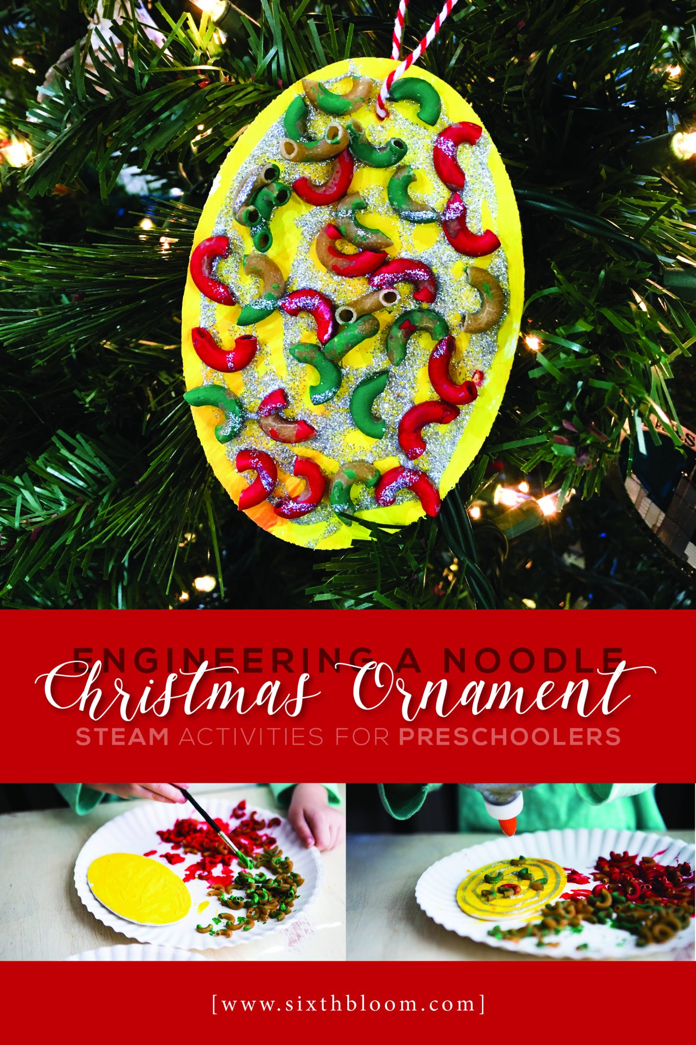 Engineering a Noodle Christmas Ornament