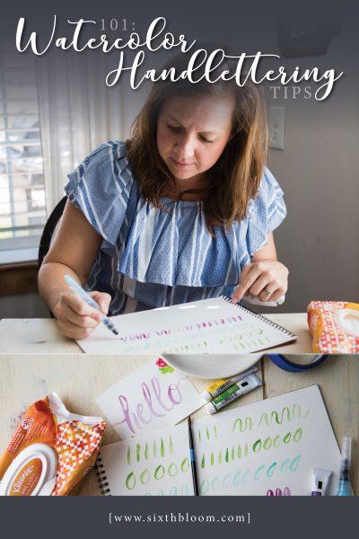 101: Watercolor Handlettering Tips