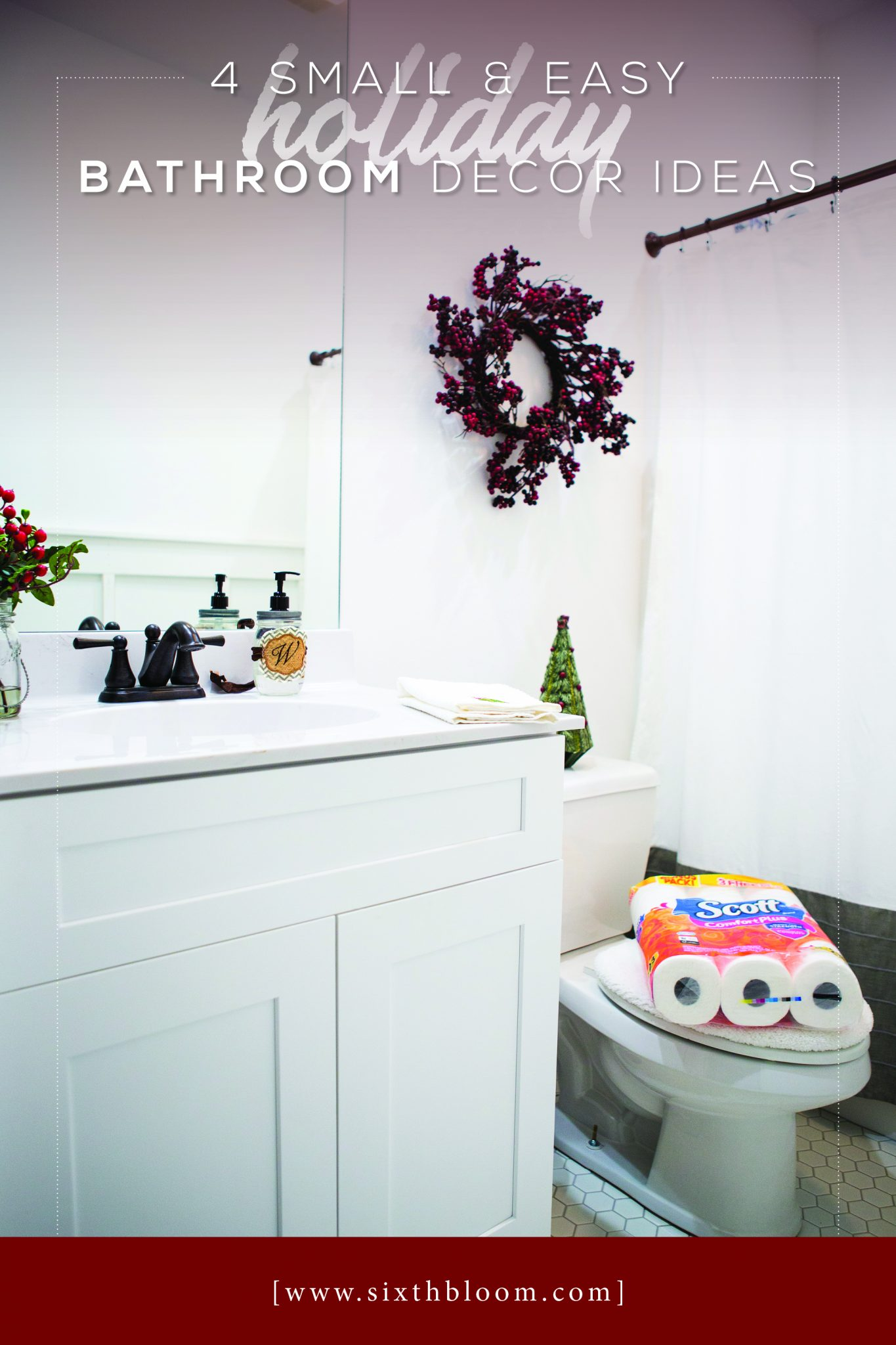 bathroom holiday decor