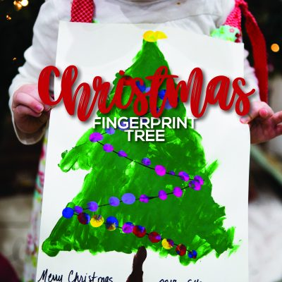 Christmas Fingerprint Tree – STEAM activities for Preschoolers