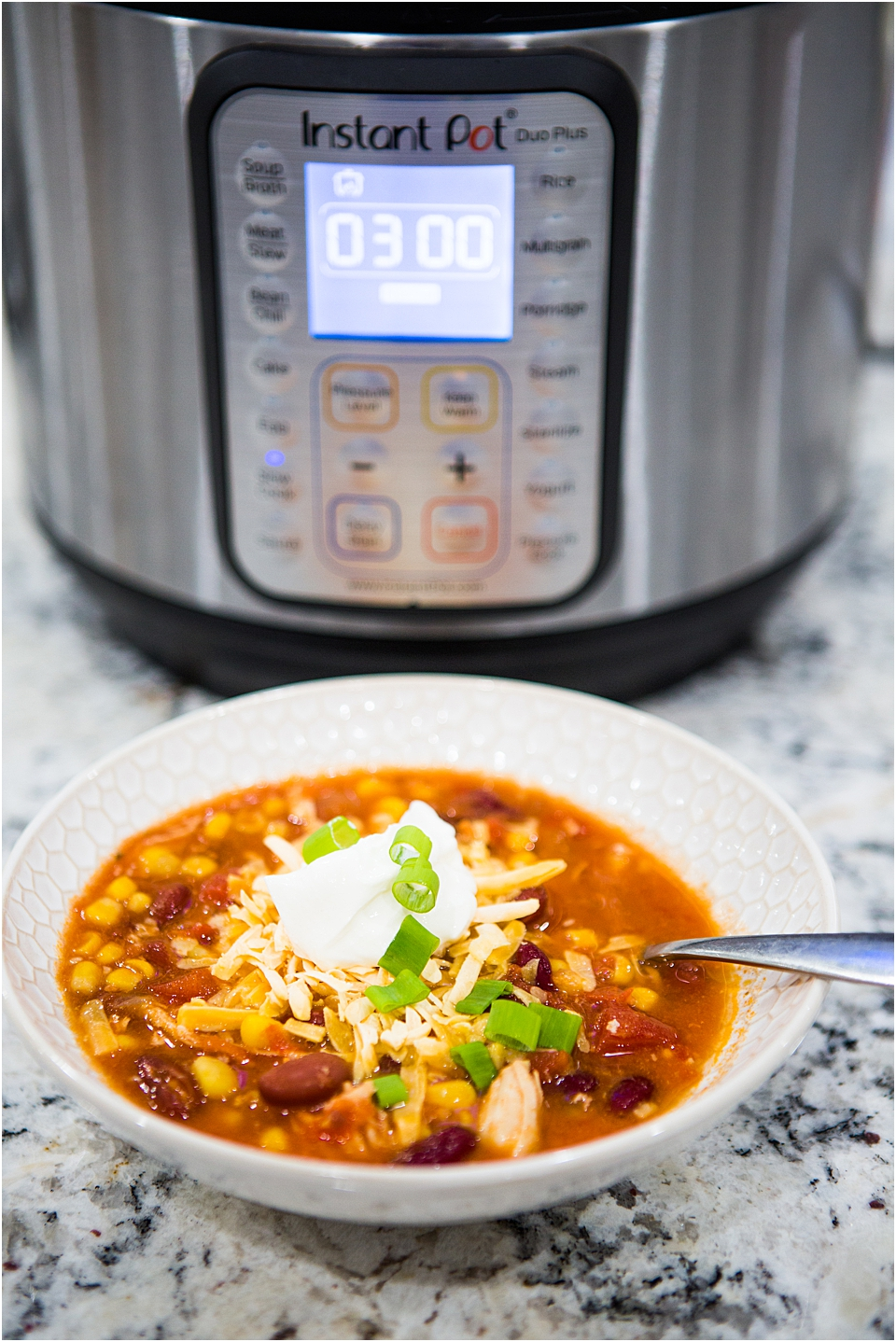 Instant Pot Chicken Enchilada Soup Recipe