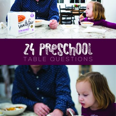 24 Preschool Table Questions