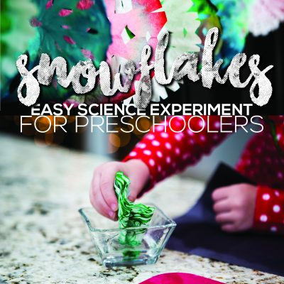 Preschool Science Experiment – Snowflake Coffee Filter