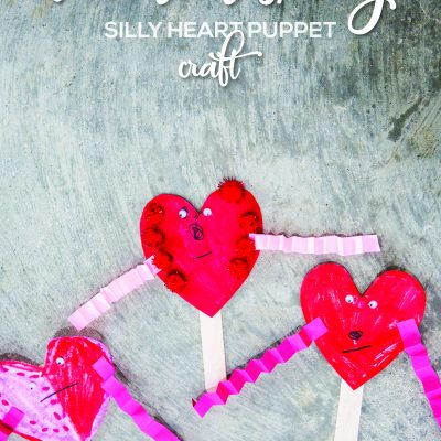 Preschool Valentines Day Craft – Silly Heart Puppets