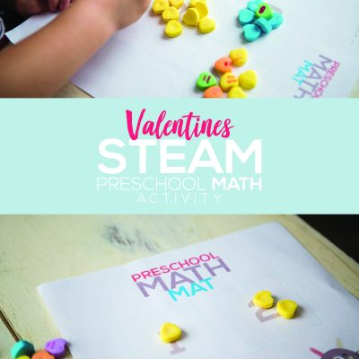 Valentines STEAM Preschool Math Activity