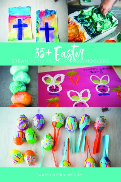 Easter STEAM activities for preschoolers