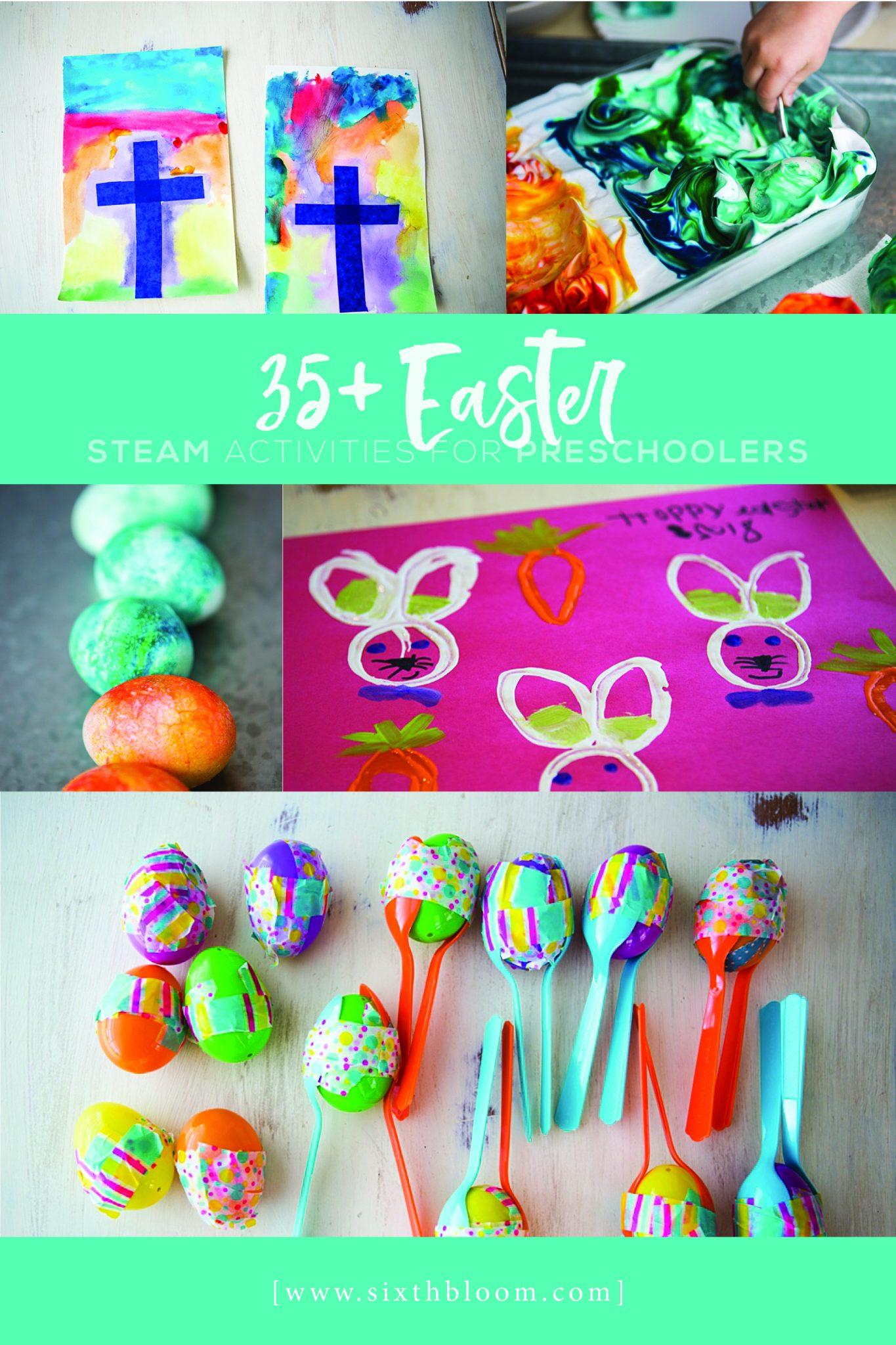 Easter STEAM activities for preschoolers