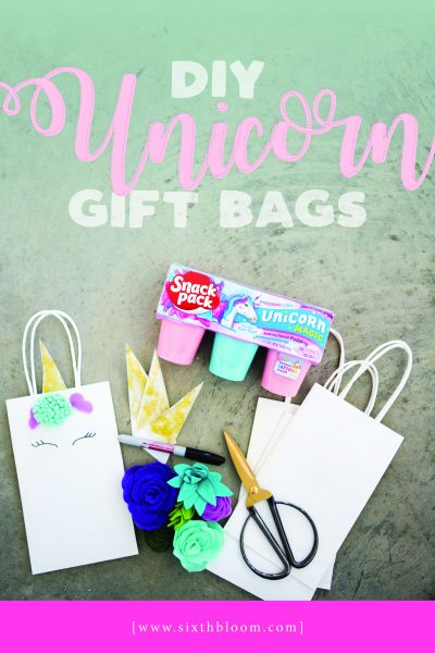 Unicorn Gift Bag Tutorial