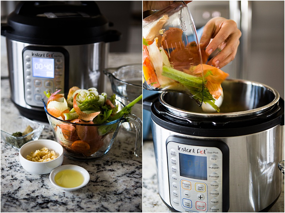 instant pot for veggie broth scraps