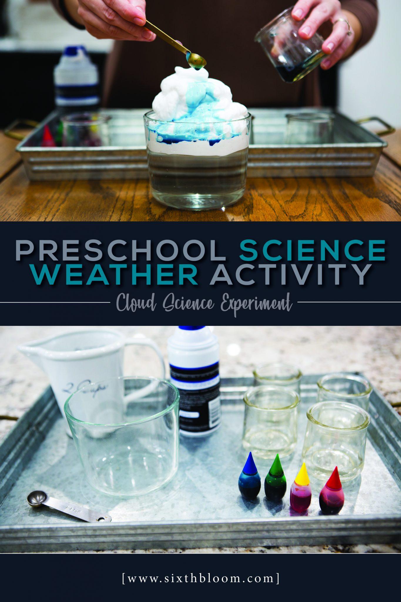 Preschool Science Weather Activity