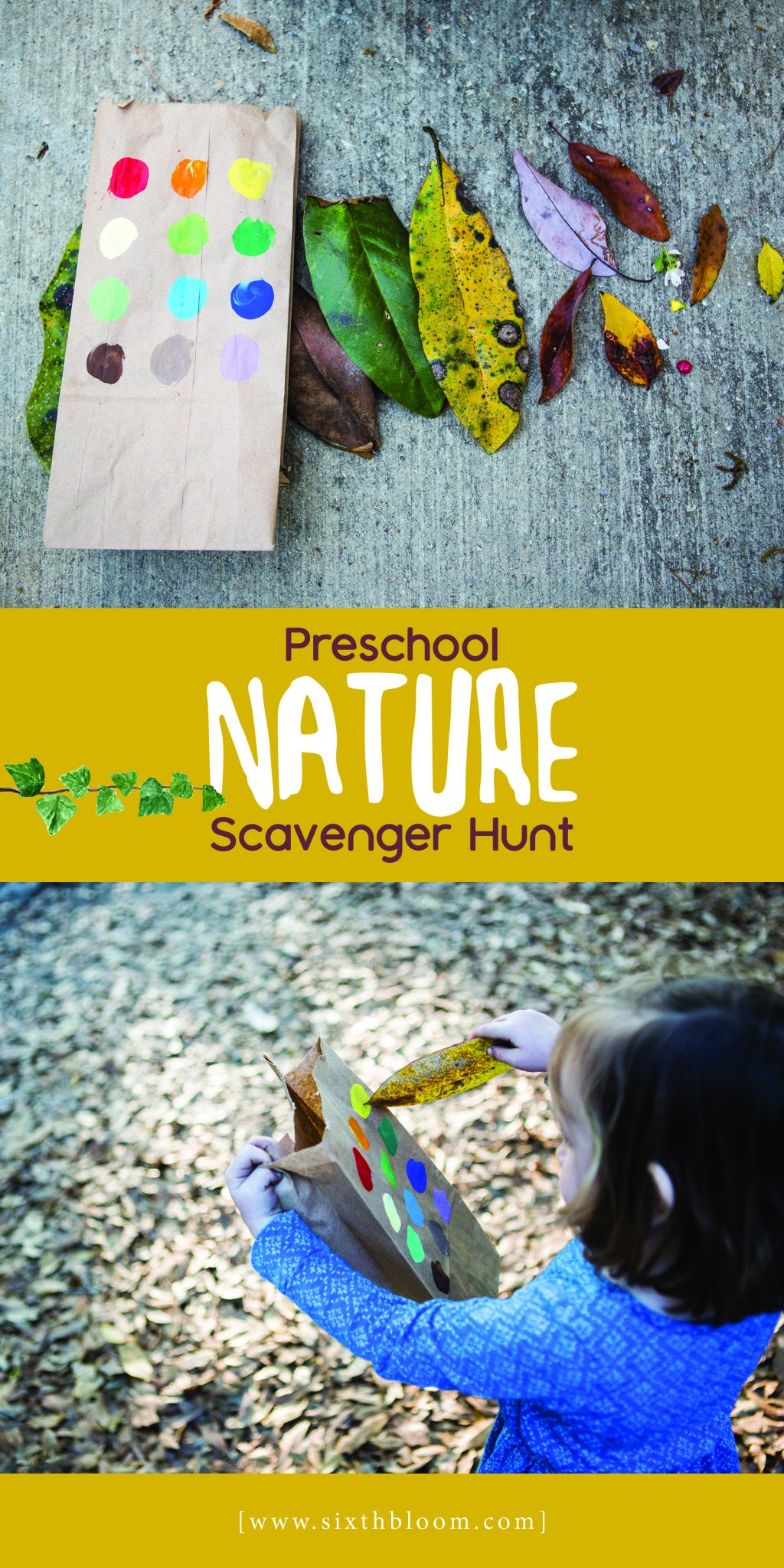Preschool Nature Scavenger hunt