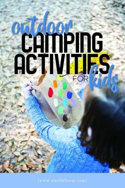 outdoor camping activities for kids