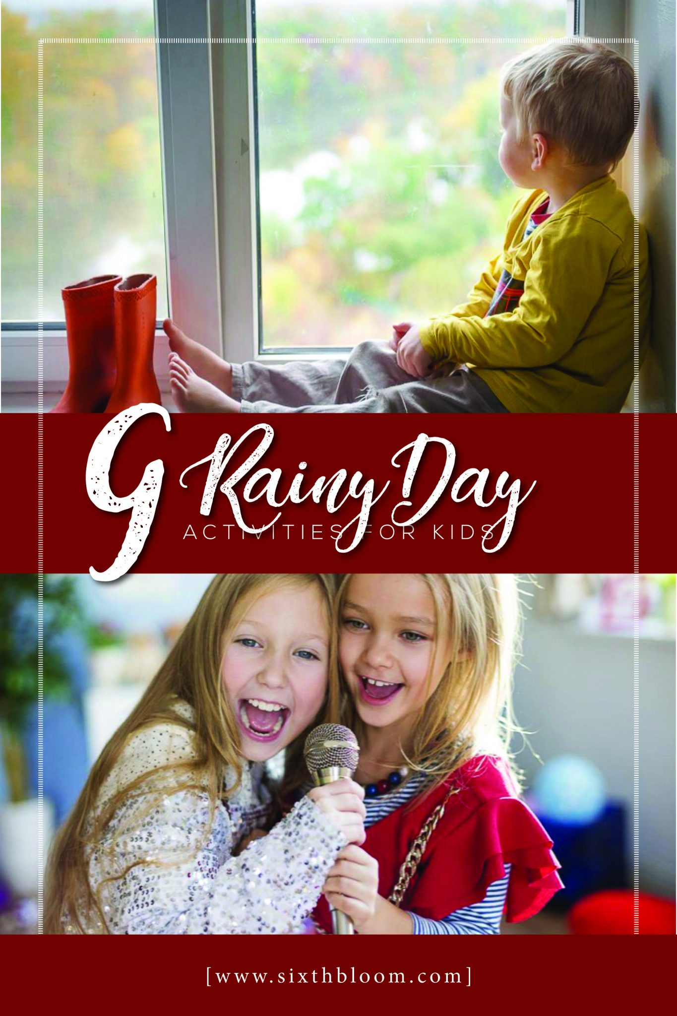 kids doing activities inside on a rainy day