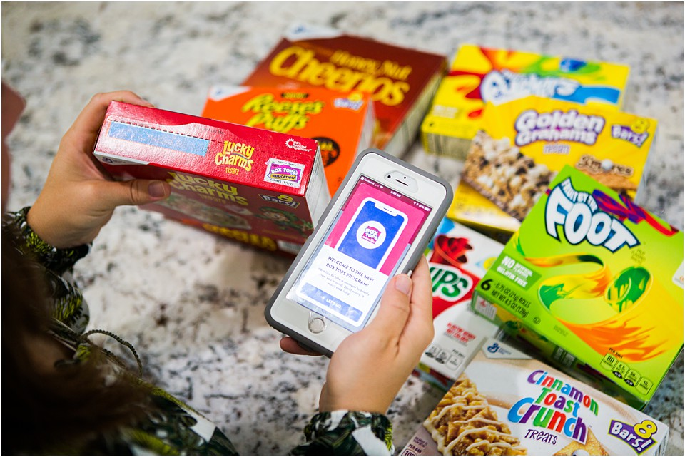 box top app with snacks