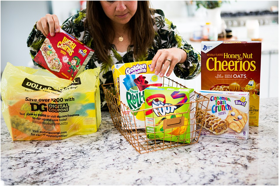 dollar general box top snacks for school lunches
