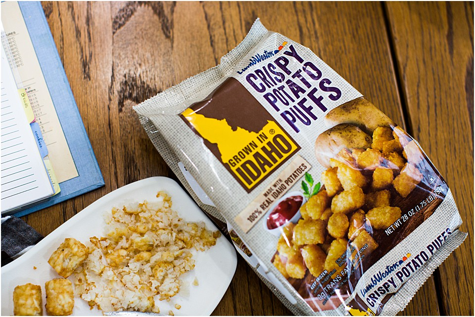 grown in Idaho crispy potato puffs
