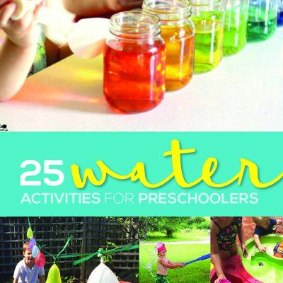 25 Water Activities for Preschoolers