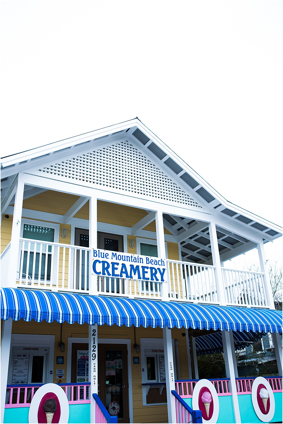ice cream in blue mountain beach