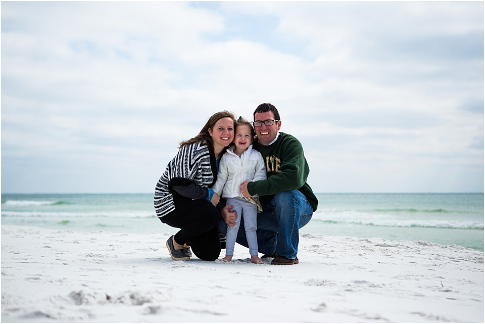 family picture on the beach in seaside florida