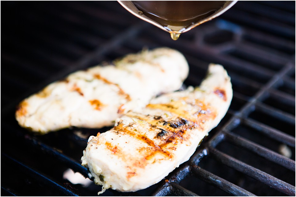 grilled chicken breast with honey lime glaze
