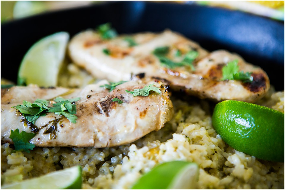 honey lime cilantro chicken dish
