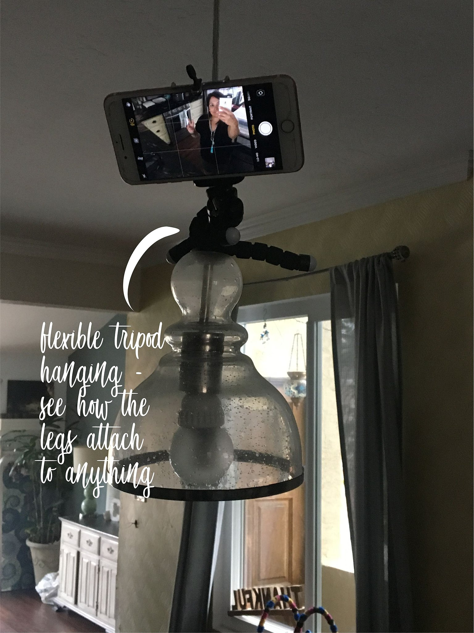 using a tripod for a selfie picture