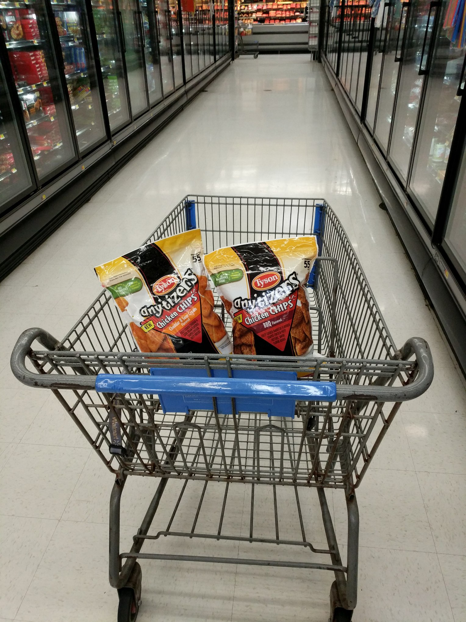 Walmart Basket with Tysons Anytizers Chicken Chips