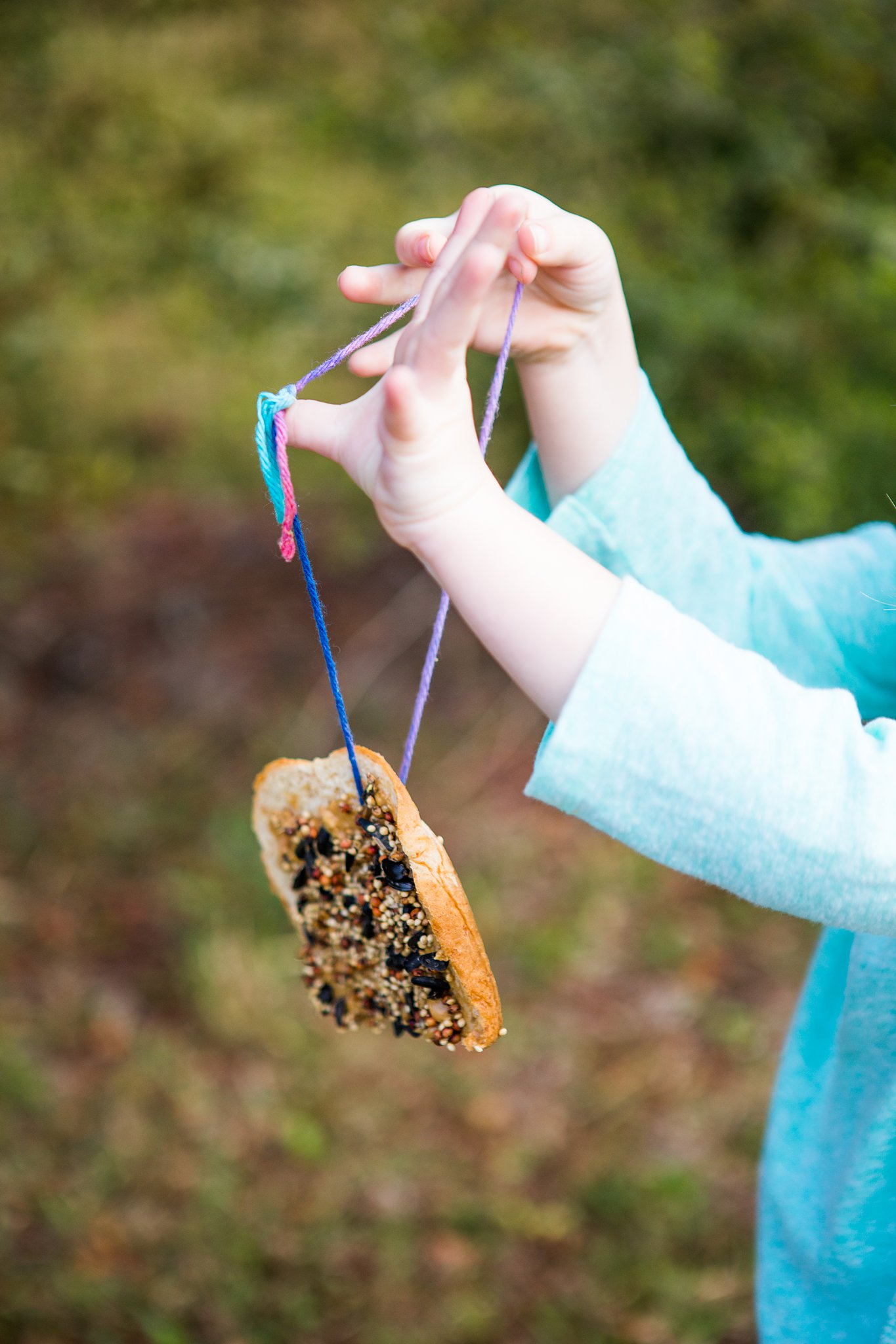 easy homemade peanut butter bird feeder