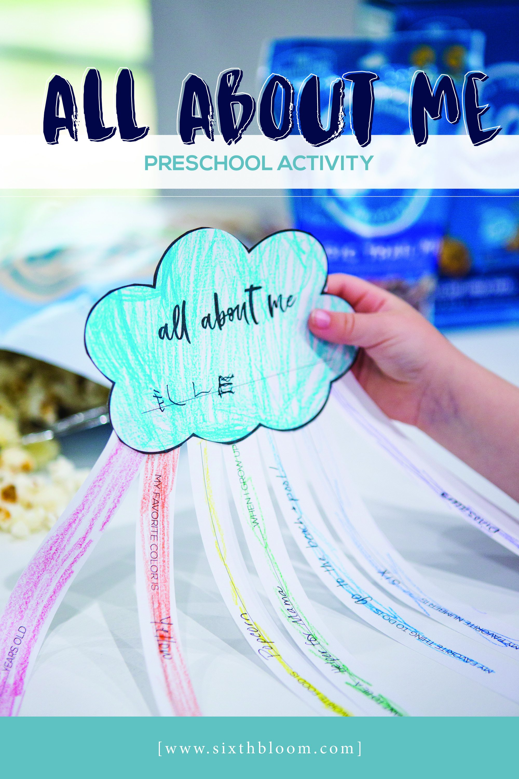 preschool first day of school printable rainbow activity