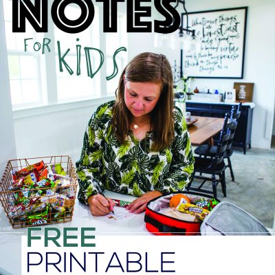 Lunch Notes for Kids – Free Printable