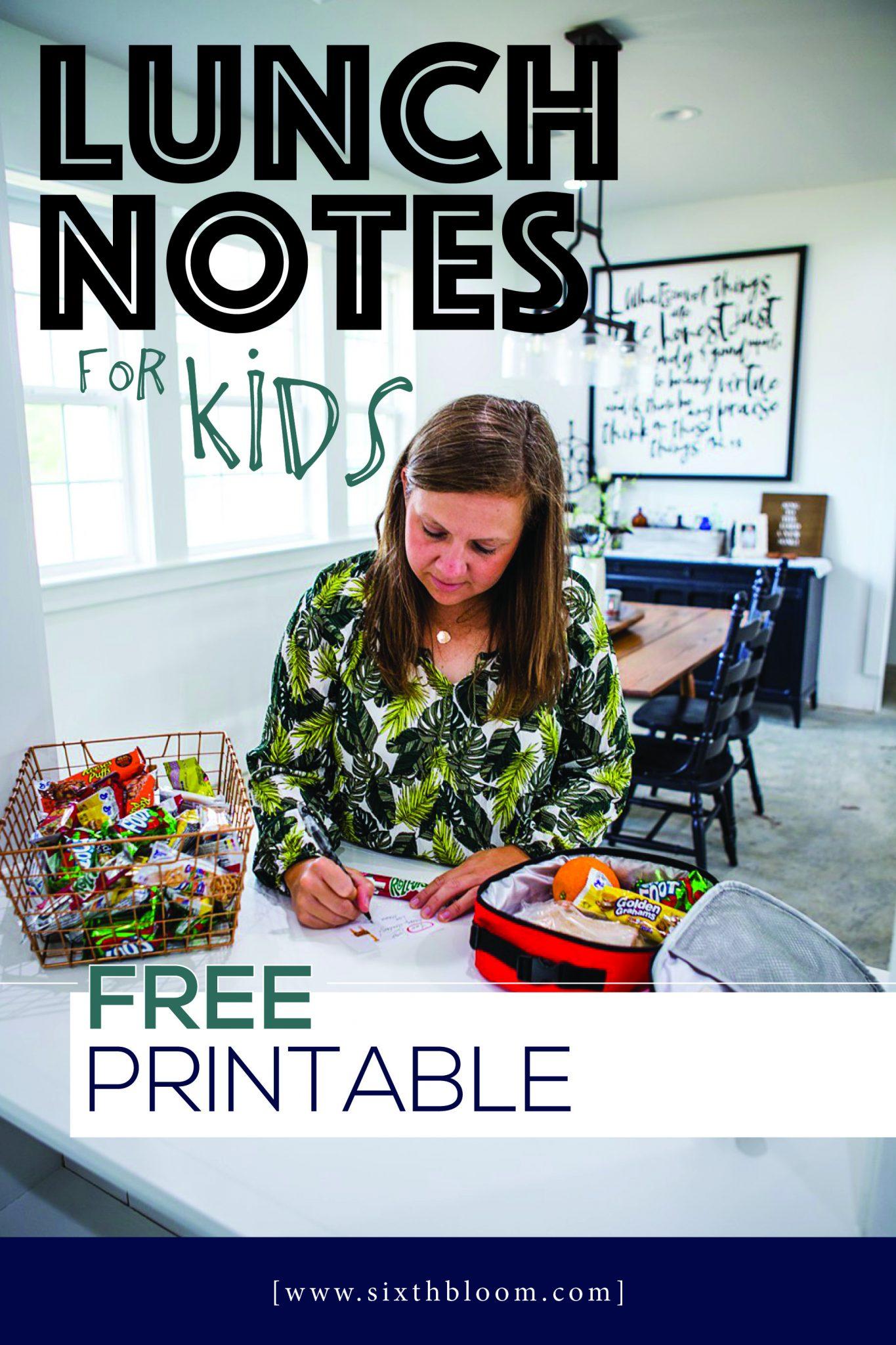 lunch box jokes free printable
