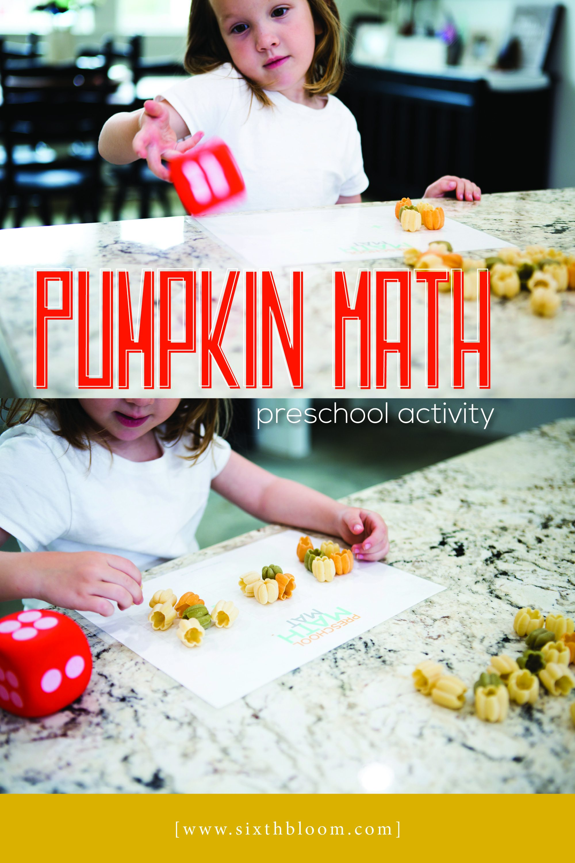 pumpkin math activity that has numbers, counting and sorting