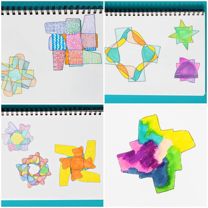 rotational symmetry art project
