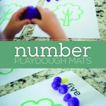 playdough number mats printable