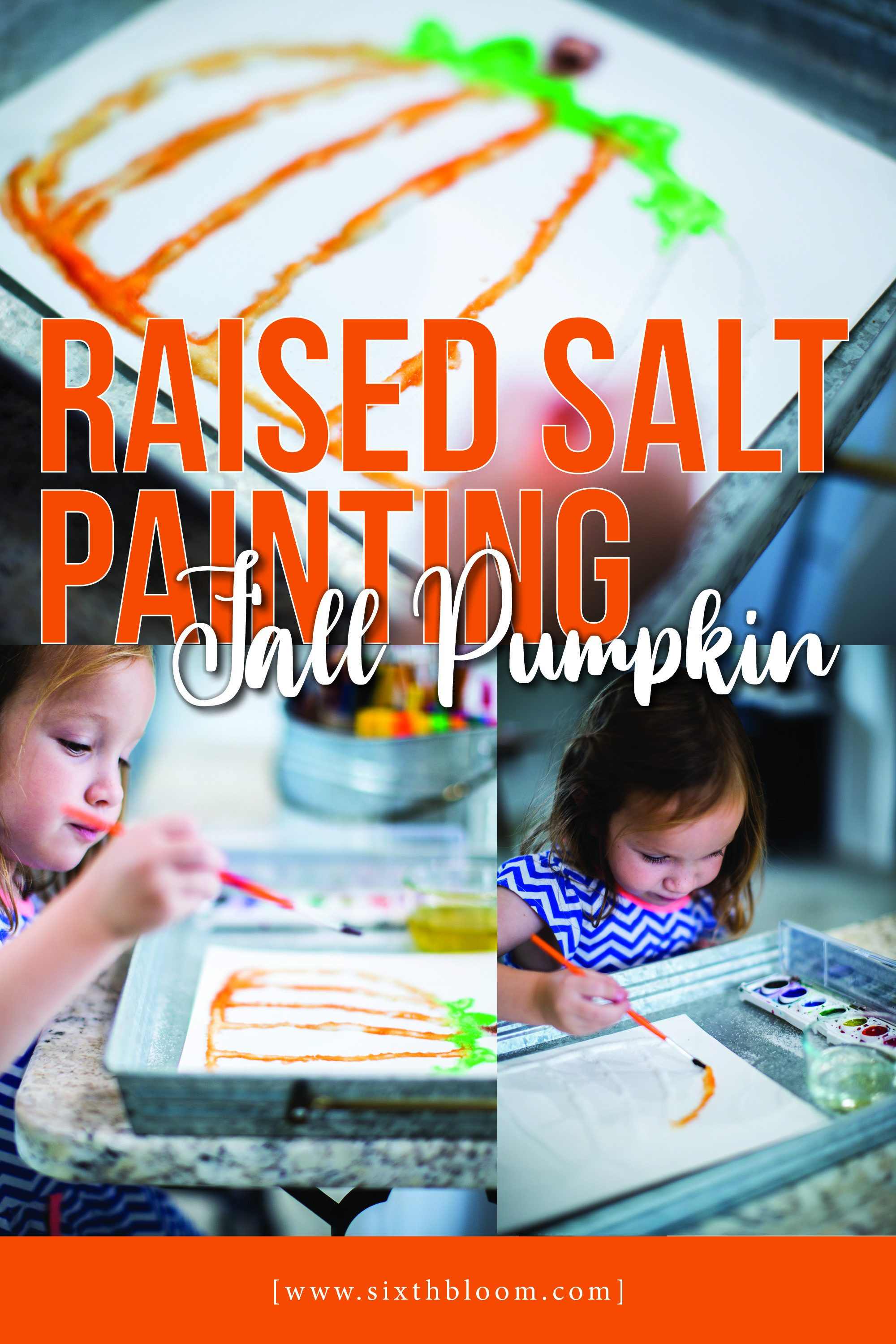 raised salt art painting of a pumpkin