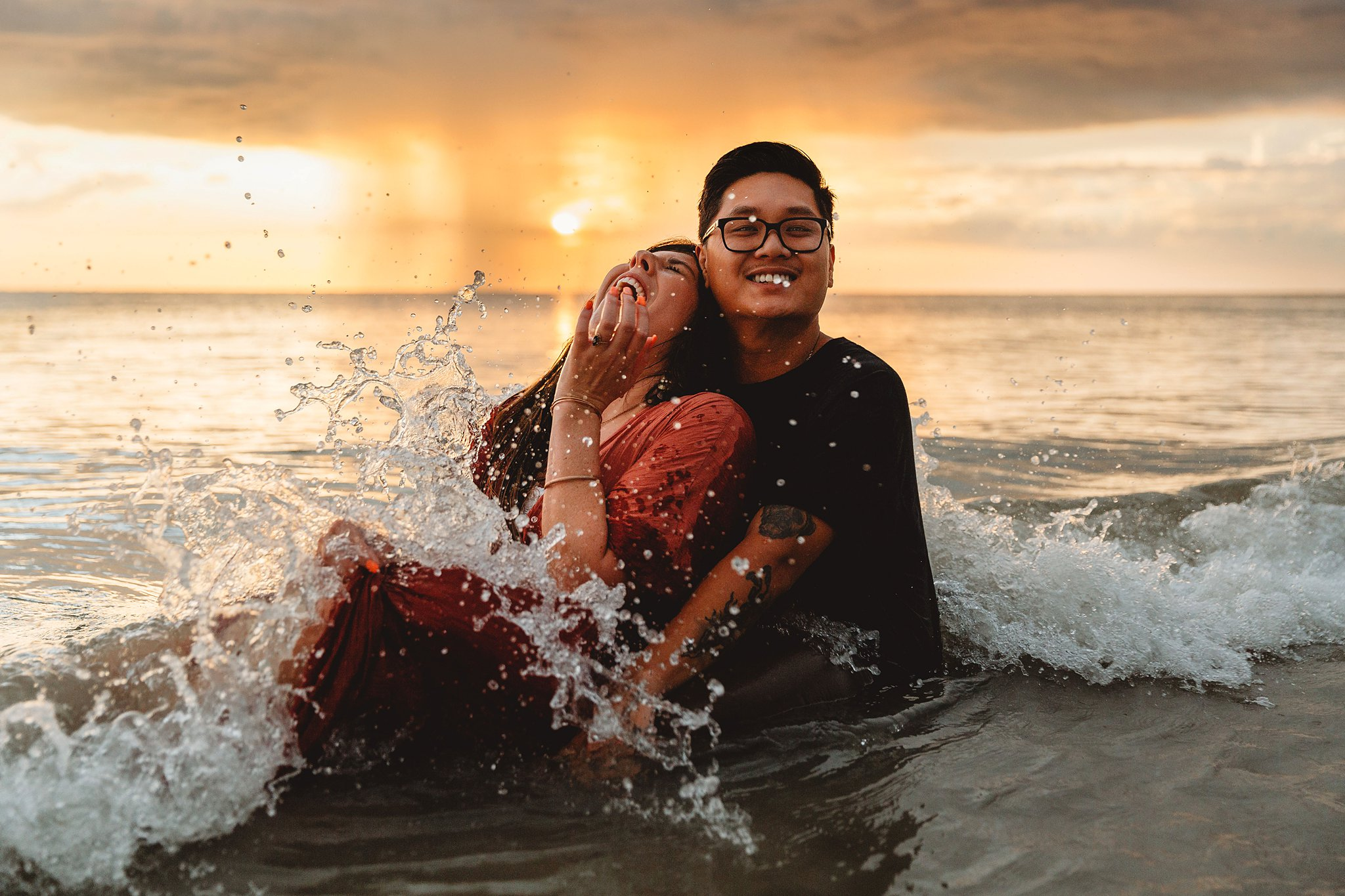 fun and creative couple pose