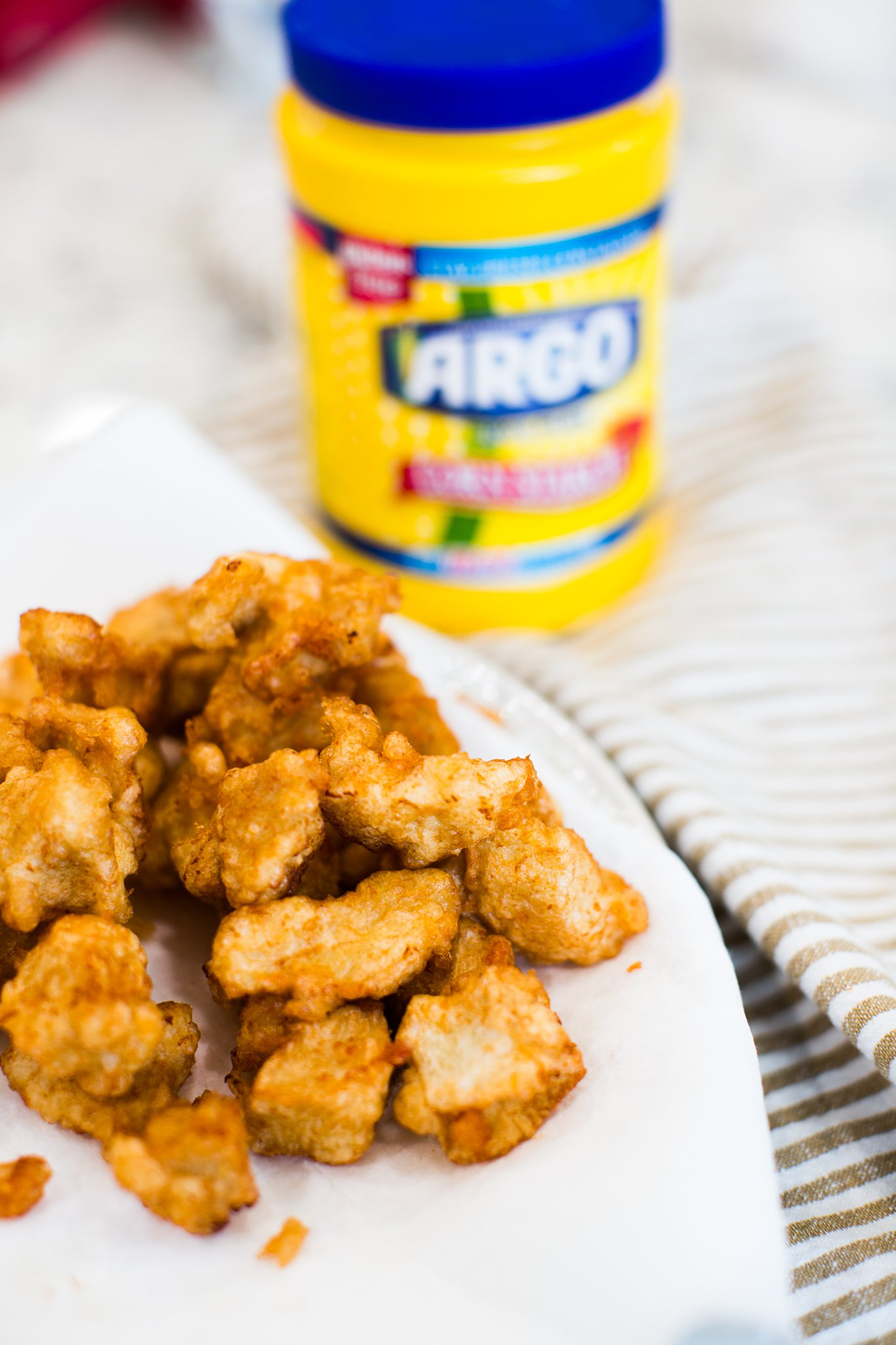 crispy fried chicken with argo corn starch