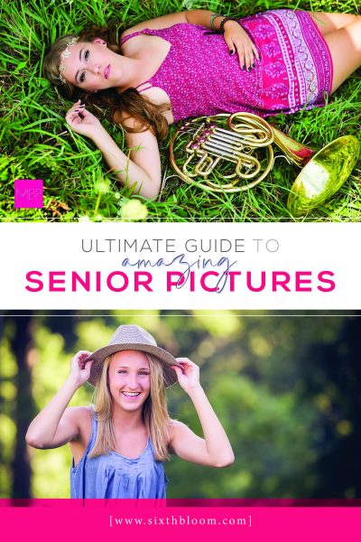 girls taking senior pictures with props