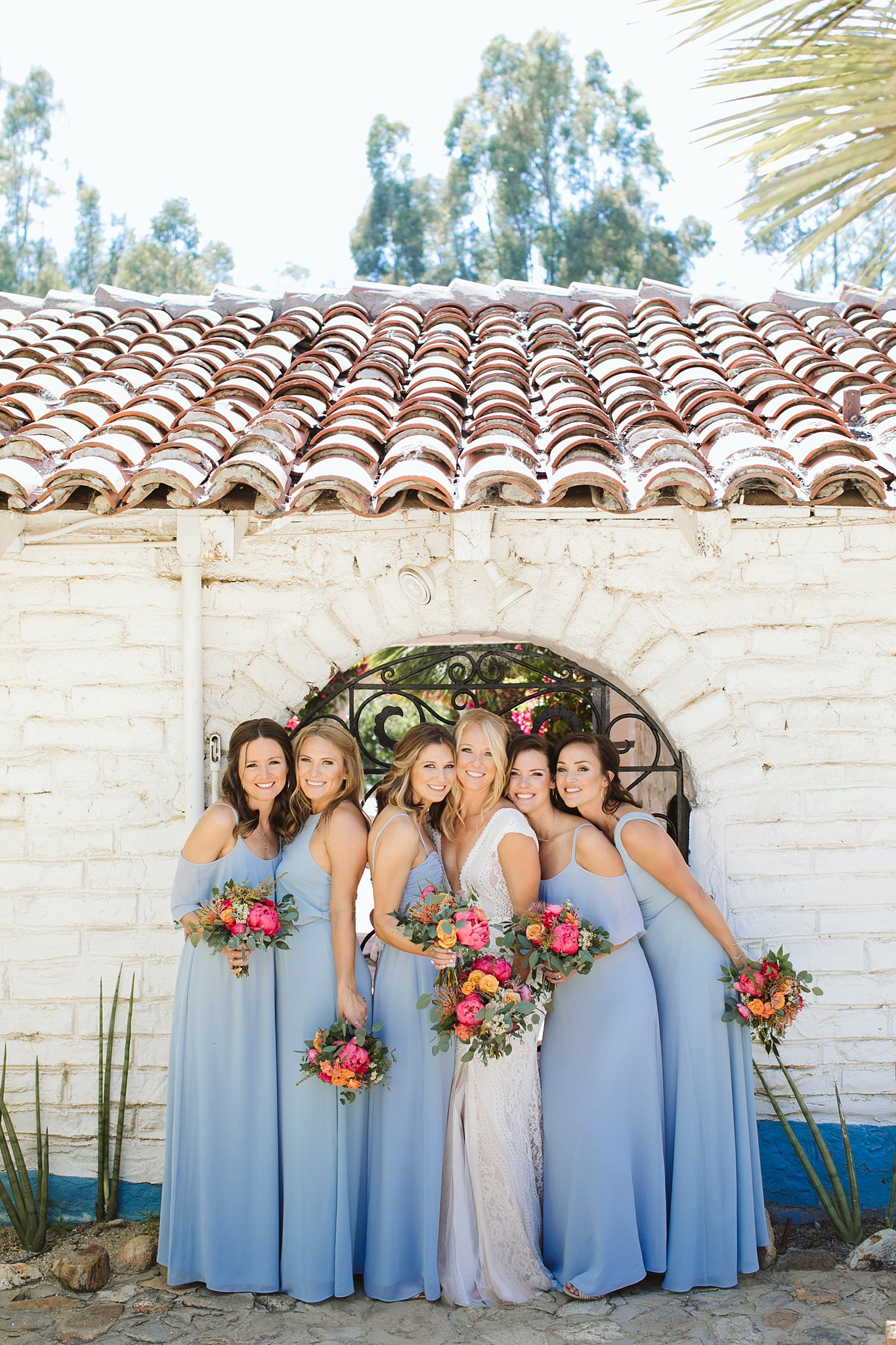 bride and bridesmaids group picture