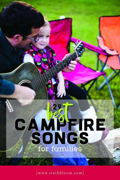 printable of the best campfire songs for families to sing together
