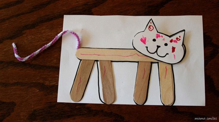 Cute cat craft for kids to make