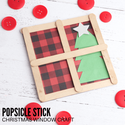 Popsicle Stick Craft Window For Christmas