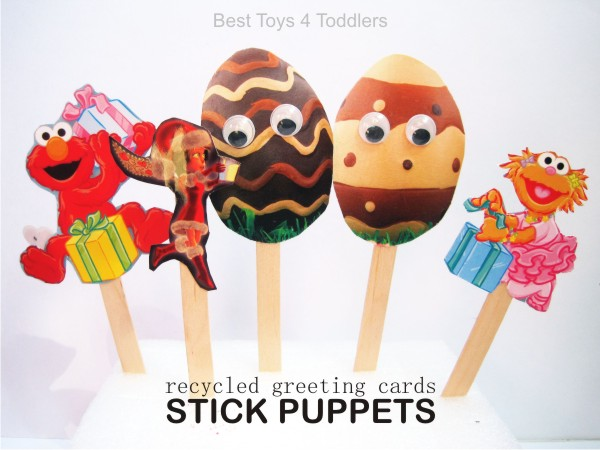 Recycled Stick Puppets