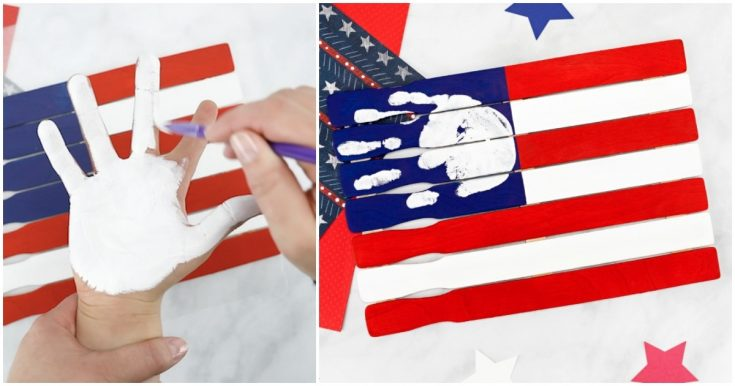 Handprint American Flag Craft for Preschoolers