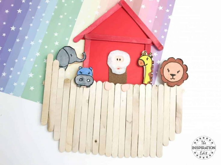 Noah's Ark Craft Using Popsicle Sticks